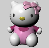 Kitty猫,hellokitty,maya卡通角色模型